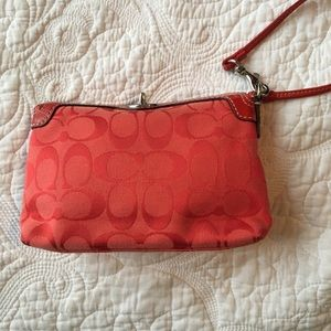 Handbags - Small Red Coach Wrislet